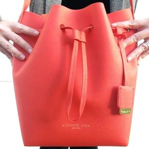 Kenneth Cole Orange Bucket Bag